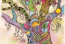 krasny barevny strom