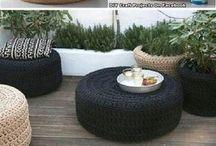 pouf en pneu