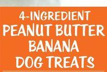 peanut butter banana dog treats