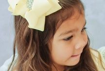 BOWS, FLOWERS, ETC, / LITTLE GIRLS AND CUTE LITTLE BOWS, SO SWEET ... / by Kim