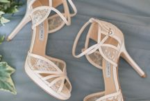 Wedding shoes and hair