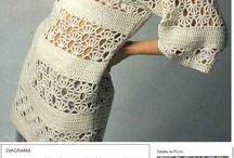 かぎ編みチュニック スカート