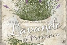 printjes lavendel, zonnebloemen, papavers een olijven.