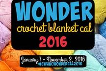 Wonder Crochet Blanket CAL 2016 / The American Crochet & Crochet With Us Wonder Crochet Blanket CAL. For more information about this crochet along visit: http://americancrochet.com/wonder-crochet-blanket-2016-cal-american-crochet/  All images are pinned from the Groups American Crochet * Crochet With Us!