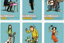Jeu de 7 familles - Happy Families - Quartett.