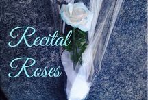 Recital Flowers - Eco Chic Clay Flowers / Celebrate Dance Recitals, End of the Year Events, Skating Performances...Presentation Roses to give as an everlasting keepsake. Flowers are lightweight, scent-free and made by hand - petal by petal. Ships worldwide www.flower-girl.ca