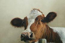 Koeien / Schilderen