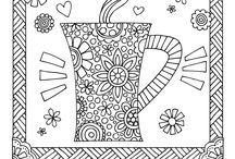 Tea and Coffee Colouring Pages