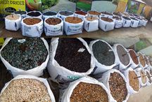 Decorative Aggregates / Decorative Aggregates and shingles in a veriety of colours and sizes available from Hambrooks Titchfield Garden Destination Centre Hampshire garden supplies