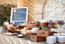 bread and spread table