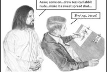 Jesus Bugging You Always / My parody versions of the insipid 'Jesus With You Always' series...