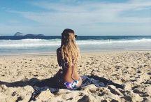 Na praia!