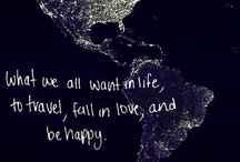 Traveling makes me happy
