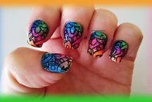 Degradado multicolor y BPL-027 / Nail Art