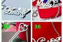 aksesoris gelang kalung cincin anting necklace ring bracelet earrings