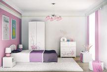 PETALO - kolekcja mebli dla dzieci / Delikatne kwiaty na białym to kolekcja przygotowana specjalnie z myślą o dziewczynkach. Piękna, delikatna i wdzięczna orchidea to doskonały wybór do pokoju małej i trochę większej Księżniczki.