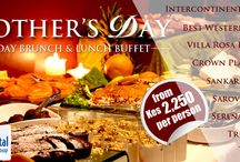 Mother's Day Weekend / When Mum is happy, The whole family is! Appreciate your mum or loving wife by treating her to a mouth-watering culinary experience at the best hotels in town. Happy Mother's Day!
