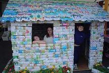 casinhas de caixa de leite