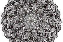 Mandala/zentangle art