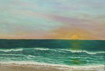 Sea and waves art