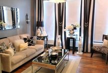 black, white and shades of gray / design inspiration for black, white, and gray spaces