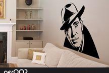 Vinilos Cine / Los mejores #vinilosdecorativos relacionados con el mundo del #cine. Las grandes estrellas de #Hollywood pueden decorar tu pared.