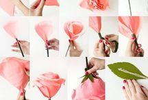 ペーパークラフト 作り方 花