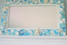 Dekorácie morský motív,dekorácie z mušlí,morské sklo a pod.