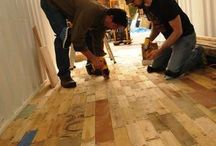 Flooring - Upcycled, Reuse & Repurposing! / #Flooring - #DIY #Upcycled, #Reuse, #Restoration & #Repurposing!