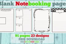 note-booking pages and lapbooks / note-booking pages and lapbooks from around the web!