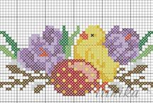 Wielkanoc haft krzyżykowy