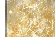 Gold Abstract Art / 0