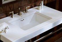 White Rectangular Sinks