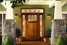 Classic-Craft American Style Collection / The simple vertical lines and Shaker-style recessed panels of Classic-Craft American Style premium fiberglass entryways create a timeless look that is perfect for Craftsman-inspired Cottage- and Bungalow-style homes.