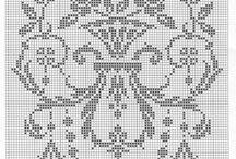 filet - kwiaty