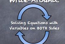 Algebra 1 ideas / by Maryssa Smith