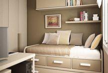 Men's small bedrooms