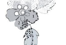 Узоры, цветы (рисовка)