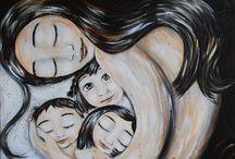 Cuadros mujeres y niños