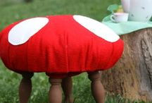 toadstool theme party / by Renee Glastonbury