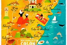Illustrated Maps of the World