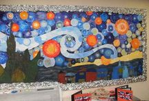 art class bulletin boards and display