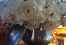Another reason to visit your local thrift store...Vintage ICE BUCKETS make lovely FLOWER VESSELS!