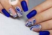 ногти синие