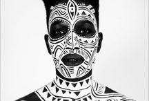 black/white bodypaint
