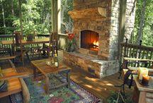 Outdoor Fireplaces / by Julie Farris Cherry