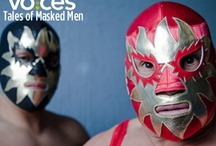 scrapbook 10 masked people / Mexican Lucha Libre masks