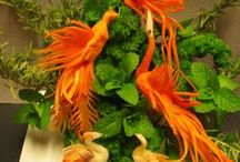 sculptures légumes