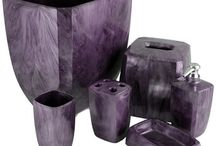 Be bold, be PURPLE! / Think outside the box, and decorate your home with purple accents!  A great color for any room!