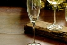 Personalized Stem Glasses for Wine and Champagne / All things wine and beautiful celebrations